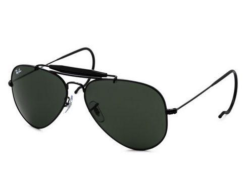 48a8c19a18ece Óculos de Sol Rayban Caçador 3030 Outdoorman Preto 58 - 100% ORIGINAL